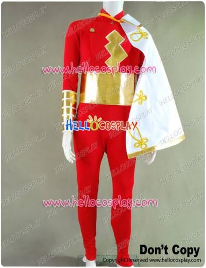 Captain Marvel Shazam Jumpsuit Cosplay Costume