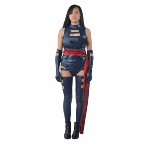 X Men Apocalypse Psylocke Cosplay Costume Jumpsuit Blue Ver