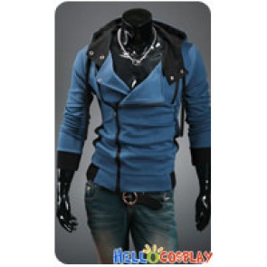 Assassin's Creed Cosplay Jacket With Hood Costume Blue