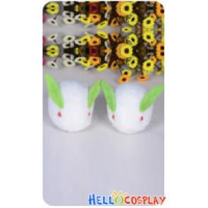 Vocaloid Cosplay 2013 Snow Miku Snowshoe Rabbits Plush Doll