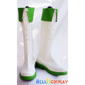 Vocaloid 2 Cosplay Megpoid Gumi Boots White Green