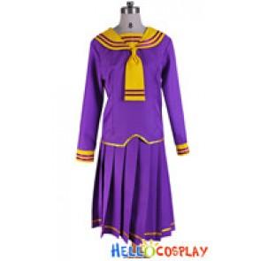 Fruits Basket Cosplay Navy Costume Purple Uniform