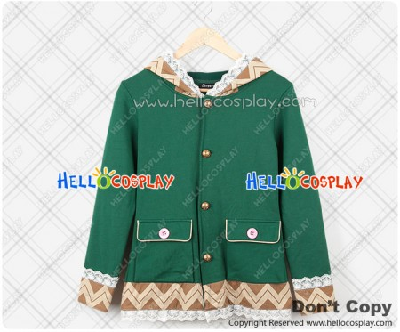 Date A Live Cosplay Yoshino Green Rabbit Jacket Coat Costume