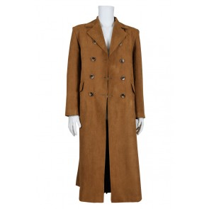 Doctor Cosplay Dr Brown Trench Coat Costume New Version