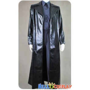 The Matrix Cosplay Neo Snake Grain Leather Coat Costume