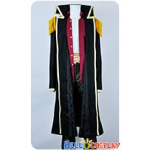 One Piece Cosplay Marshall D Teech Black Trench Coat Uniform Costume
