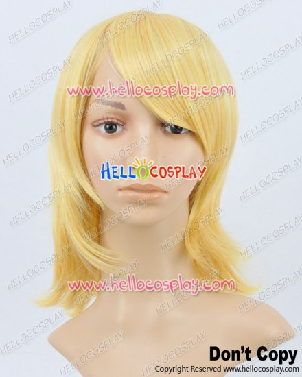 Vocaloid 2 Cosplay Kagamine Rin Yellow Medium Wig