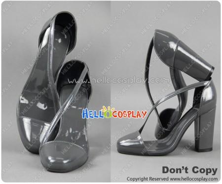 Bayonetta Bloody Fate Cosplay Bayonetta Gray High Heeled Shoes