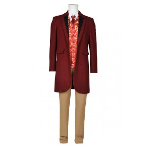 Django Unchained Monsieur Calvin J Candie Trench Coat Cosplay Costume