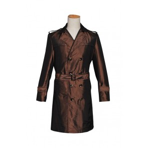 Watchman Costume Rorschach Trench Coat Brown