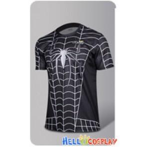 Spider Man Peter Parker Black Venom Cosplay Costume T Shirt