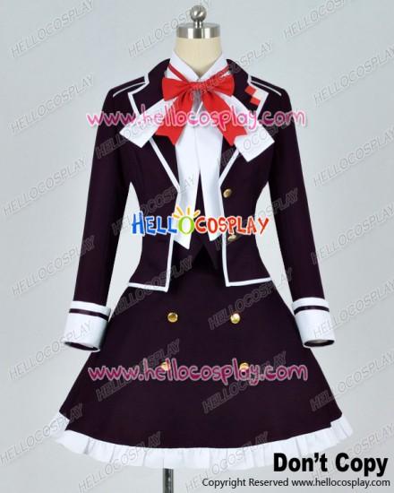 Diabolik Lovers Cosplay Yui Komori Purple Uniform Costume