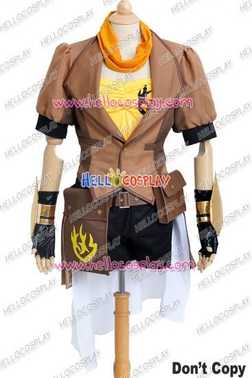 RWBY Cosplay Yellow Trailer Yang Xiao Long Costume Uniform