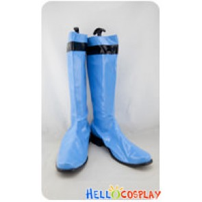 Tokusou Sentai Dekaranger Cosplay Blue Pleather Boots