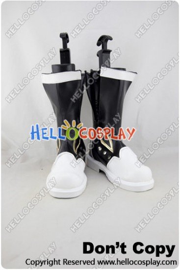 Tales of Xillia 2 Cosplay Shoes Jude Mathis Black White Boots