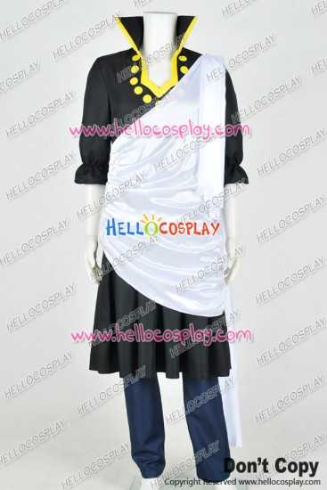 Fairy Tail Cosplay Black Wizard Zeref Uniform Costume