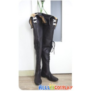 Final Fantasy XIV FF 14 Cosplay Shoes Brown Long Boots