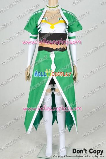 Sword Art Online Ⅱ Gun Gale Online GGO Cosplay Sylph Leafa Suguha Kirigaya Costume