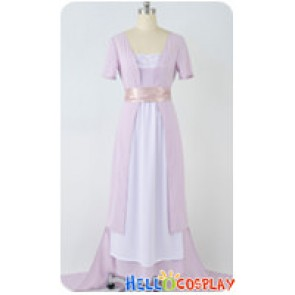 Titanic Cosplay Rose Purple Swim Gown Dress Costume
