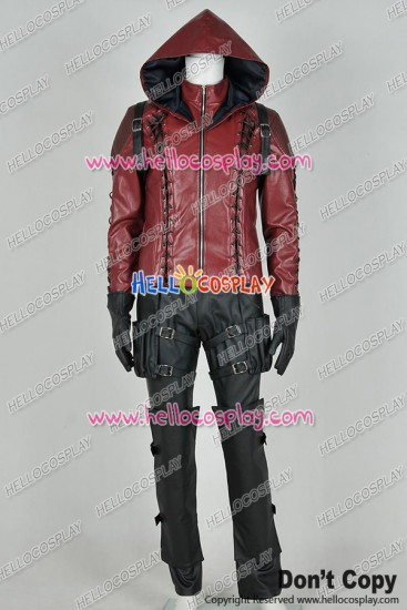 Green Arrow Season 3 Red Arrow Roy Harper Cosplay Costume Uniform