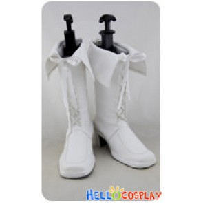 AKB0048 Cosplay Full White Boots