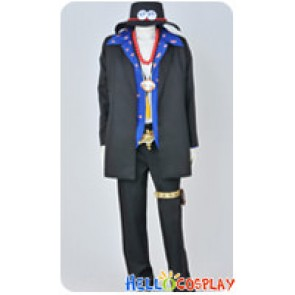 One Piece Cosplay Portgas D Ace Blue Shirt Ver Costume