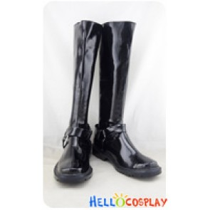 Gintama The Movie Cosplay Shoes Shinpachi Shimura Black Boots
