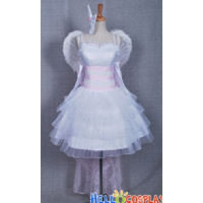 Vocaloid 2 Magnet Rin Kagamine Cosplay White Luxurious Dress