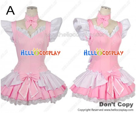 Lovely Angel Cute Bow Knot Lace Cosplay Maid Dress Costume
