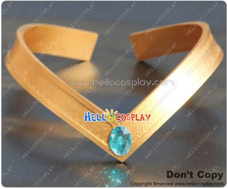 Sailor Moon Cosplay Mercury Ami Mizuno Blue V Shaped Headwear Prop