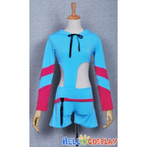 Vocaloid 2 Cosplay Kagamine Rin Blue Costume