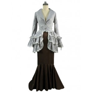 Victorian Lolita Edwardian Bustle Tea Party Punk Lolita Dress