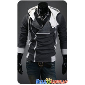 Assassin's Creed Cosplay Jacket With Hood Costume Dark Gray