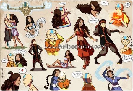 Avatar: The Last Airbender Aang Cosplay Costume Uniform