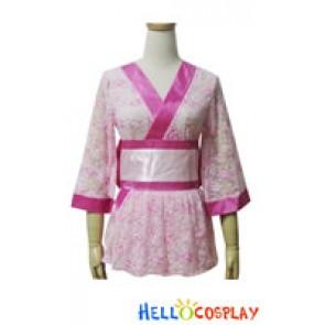 Angel Feather Cosplay Lace Kimono Dress