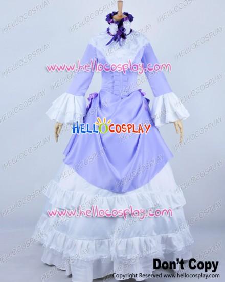 Gosick Cosplay Victorique De Blois Purple Formal Dress Costume