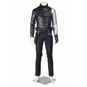 Captain America 2 The Winter Soldier Bucky Barnes Cosplay Costume Uniform