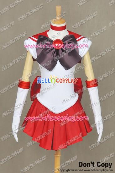 Sailor Moon Cosplay Sailor Mars Rei Hino Uniform Costume