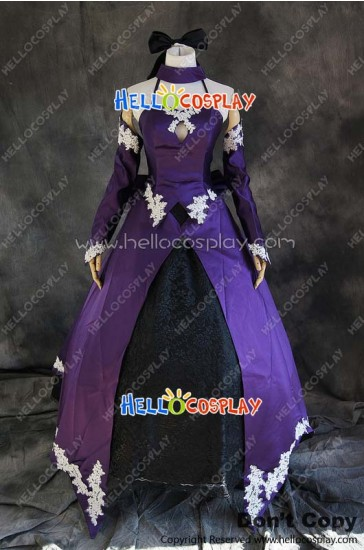 Fate Stay Night Cosplay Saber Lily Dress 2nd Version Costume