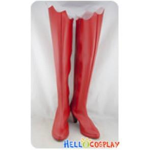 Shugo Chara Cosplay Utau Hoshina Long Red Boots