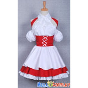 Chobits Cosplay Chii Red Maid Dress