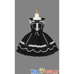 Sweet Lolita Gothic Punk Jumper Skirt Black Dress