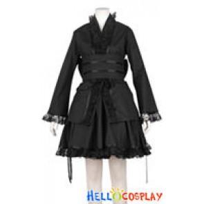 Cosplay Black Kimono Dress