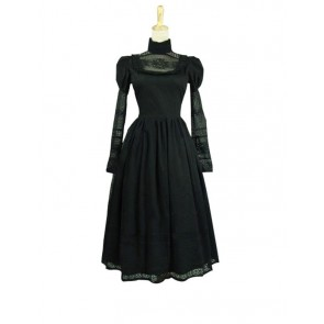 Edwardian 1920's Style Retro Dress Ball Gown Reenactment Stage Lolita Dress Costume