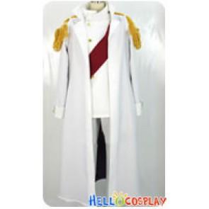 One Piece Warring States Buddha Cosplay Costume Shawl White Hat