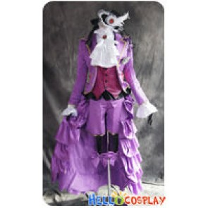Black Butler 2 II Cosplay Earl Alois Trancy Purple Uniform Costume New