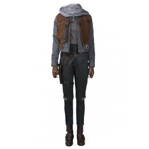 Star Wars Rogue One Jyn Erso Cosplay Costume Uniform