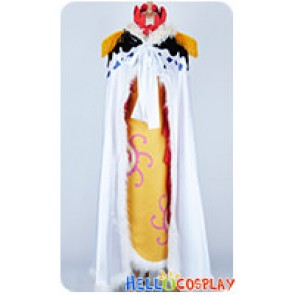 One Piece Cosplay Pirate Empress Boa Hancock Yellow Full Set Costume