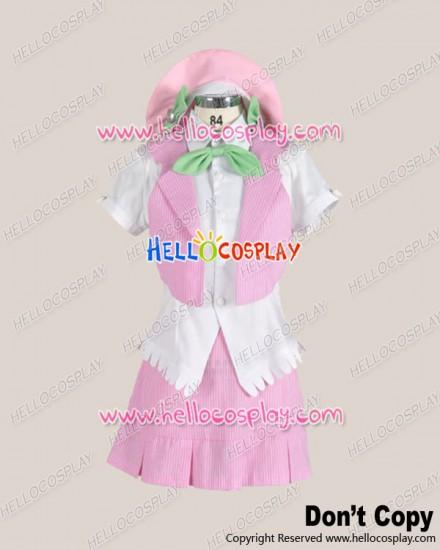 The Idolmaster Cosplay Futaba Anzu Pink Uniform Costume