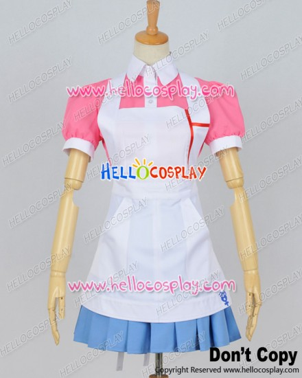 Super Danganronpa Dangan Ronpa 2 Cosplay Mikan Tsumiki Maid Dress Costume